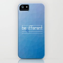 Be Different Typography Design iPhone Case