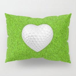 Golf ball heart / 3D render of heart shaped golf ball Pillow Sham
