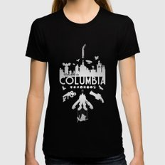 Welcome To Columbia - Bioshock Infinite (Variant) Black LARGE Womens Fitted Tee