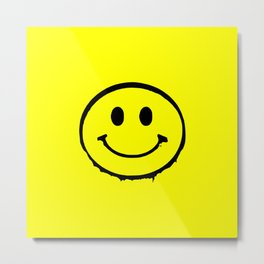 smiley face rave music logo Metal Print