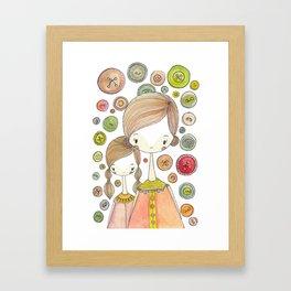 Motherhood Button Collection Framed Art Print