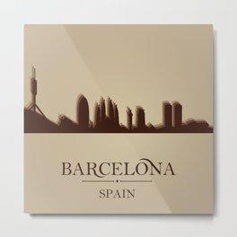 Barcelona Minimalist Print Metal Print