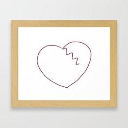 Broken Heart 1 Framed Art Print