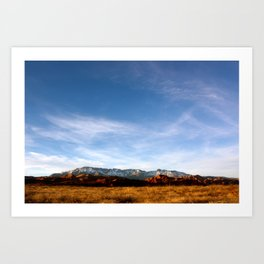 Desert Winter Colors Art Print