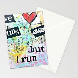love runs away Stationery Cards
