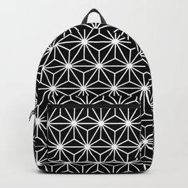 Geometric Flowers Isosceles Triangle White Line Backpack