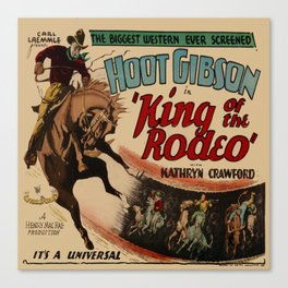 Vintage Western Movie Poster Rodeo King Canvas Print