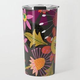 Jungle Flowers Travel Mug