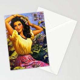 CALENDAR GIRL JESUS HELGUERA Stationery Cards