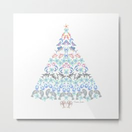 Marine Christmas Tree Metal Print
