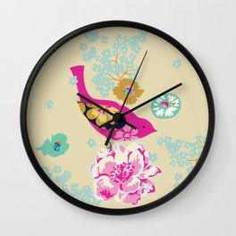 Birds and Blooms 1 Wall Clock