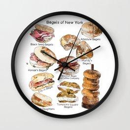 Bagels of New York City Wall Clock