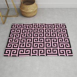 Greek Key (Pink & Black Pattern) Rug