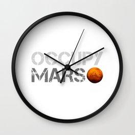 Occupy Mars Wall Clock