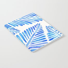 Tropical Banana Leaves – Blue Palette Notebook