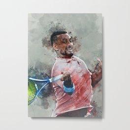 Hobbie Tennis Metal Print