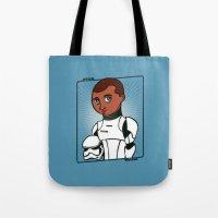 finn Tote Bags featuring Finn by roberto lanznaster