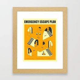 EMERGENCY ESCAPE PLAN 2 Framed Art Print