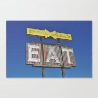 eat Canvas Prints featuring eat by bellehibou
