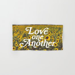 Love One Another Sunflowers Hand & Bath Towel
