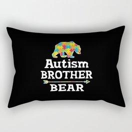 Cute Autism Awareness Brother Bear Rectangular Pillow