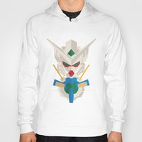 gundam Hoodies featuring gundam exia flat design by advino