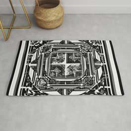 looking for something (black and white) Rug