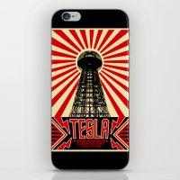 tesla iPhone & iPod Skins featuring Tesla by Octavia Soldani