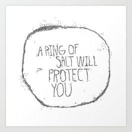 A Ring Of Salt in white Art Print