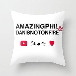 Amazingphil and danisnotonfire Throw Pillow
