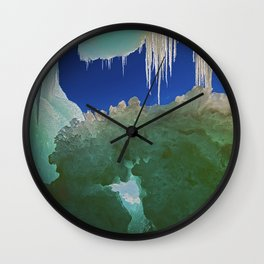 Ice Cave on Lake Superior Wall Clock