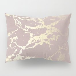 Kintsugi Ceramic Gold on Clay Pink Pillow Sham