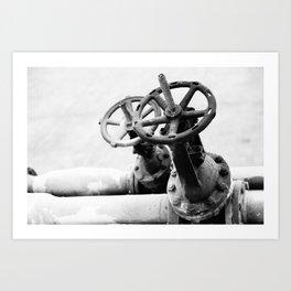 Pipeline valves Art Print