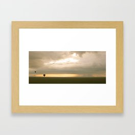 Sunrise over Serengeti Framed Art Print