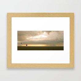 Sunrise over Serengeti Framed Art Print