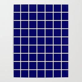 dark blue cube Poster