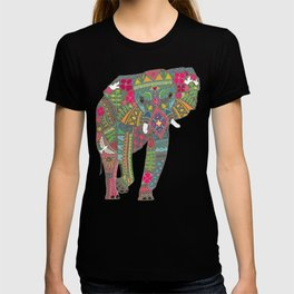 painted elephant chartreuse spot T-shirt