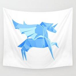Origami Pegasus Wall Tapestry