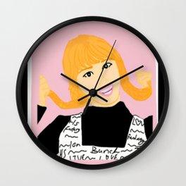 Knock Knock! Momo Pink Wall Clock
