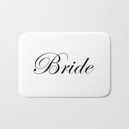 Bride - white Bath Mat