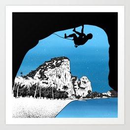 Rock climbing Thailand Art Print
