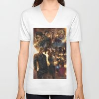 resident evil V-neck T-shirts featuring Resident Evil 6 by Dr-Salvador