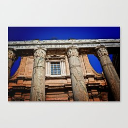 The Temple of Antonius & Faustina Canvas Print