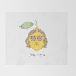 John Lemon Throw Blanket