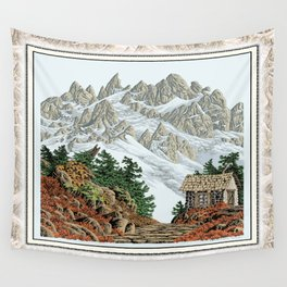 BEYOND MOUNT SHUKSAN AUTUMN COLOR VERSION Wall Tapestry
