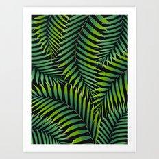 Palm leaves VII Art Print