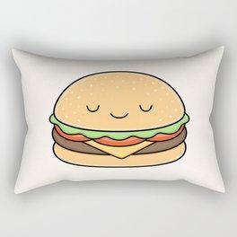 Happy Burger Rectangular Pillow