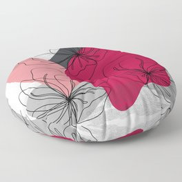 Abstract Cherry Blossom Floor Pillow