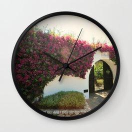 Capri in Blooms  Wall Clock