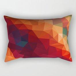 Burnt Jewel Low Poly Rectangular Pillow